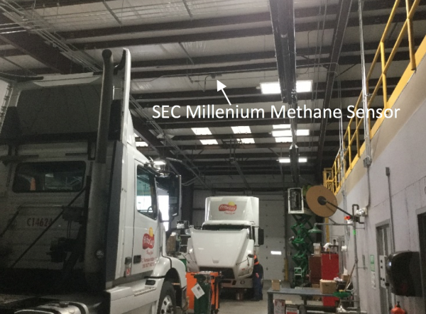 Methane gas detection system monitors CNG facility